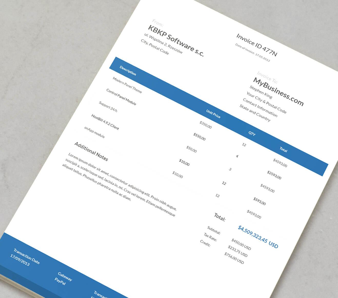 Enviar facturas (invoice) a tus clientes desde QuieroHosting.com